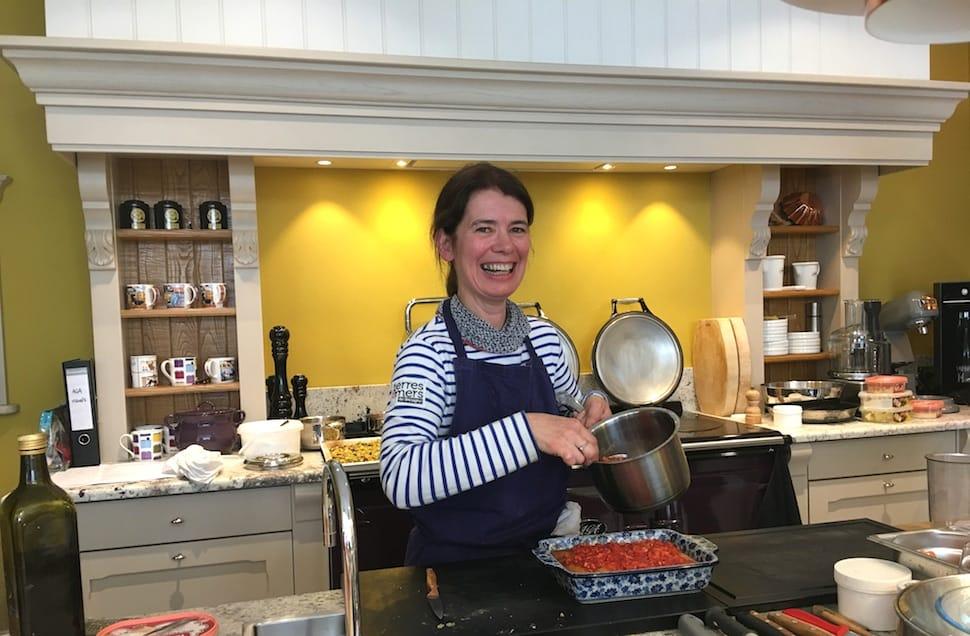 Cours de cuisine autour des produits d'été avec Nathalie Beauvais
